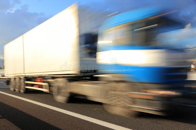 High speed truck royalty free stock images