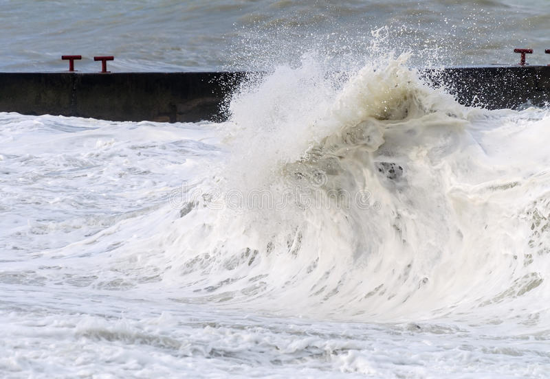 High storm surges. Stormy sea. High storm surges stock photography