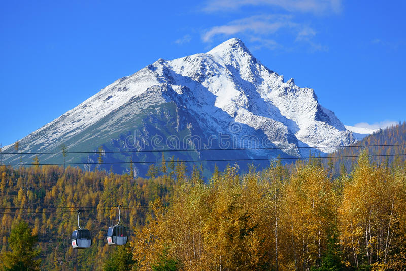 High Tatras mountains. Ski resort Tatranska Lomnica tatra slovakia europe stock images