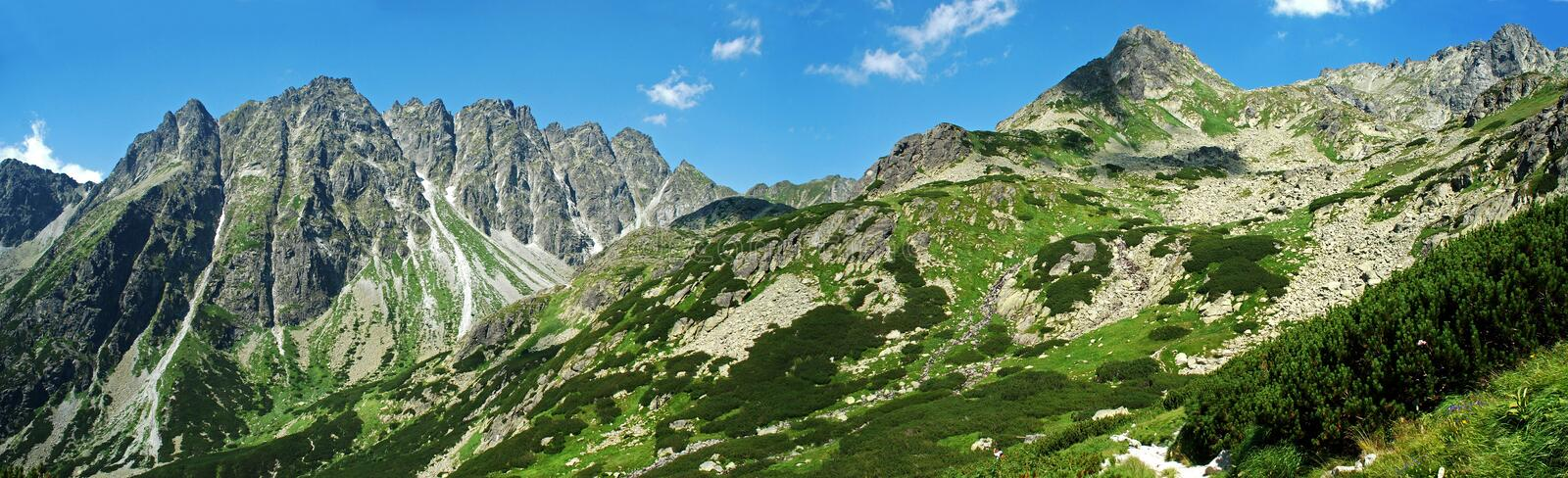High Tatras Panoramic Picture stock photos