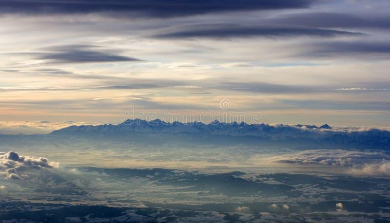 High Tatras, Poland. Seen during sunrise royalty free stock photos