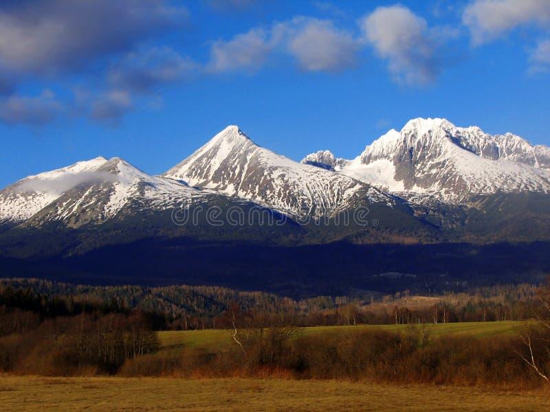 High Tatras, Slovakia. Beautiful mountains High Tatras in winter stock images