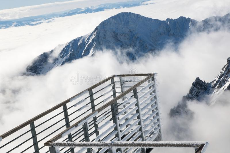 High Tatras.   View of the High Tatras from Lomnicky stit stock photography