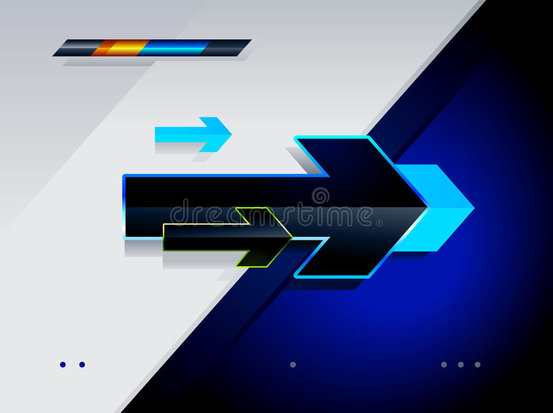 High tech arrows. Abstract vector illustration vector illustration