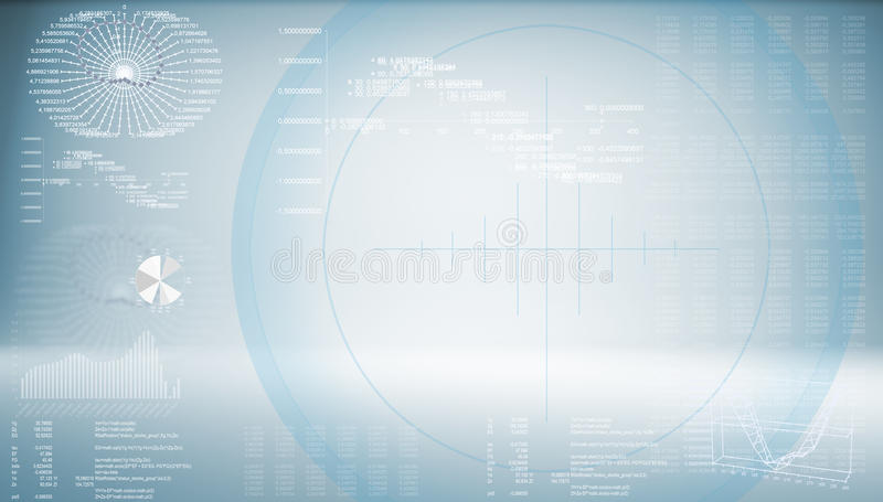 High-tech blue background royalty free illustration