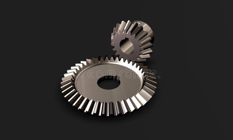 High tech chrome gears royalty free illustration