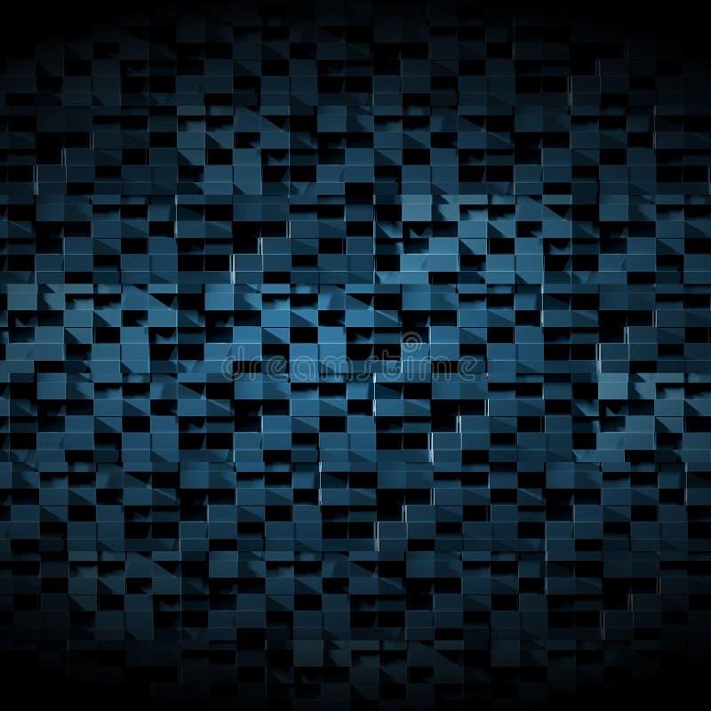 High Tech Dark Futuristic Background stock illustration