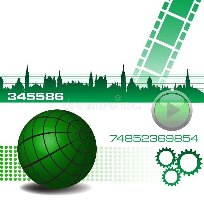 High tech design stock image