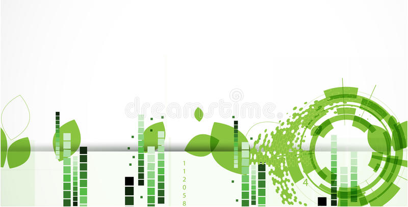 High tech eco green infinity computer technology concept background. Abstract green ecology computer technology vector background business solution vector illustration