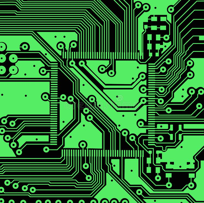 High tech electronic circuit board vector background vector illustration