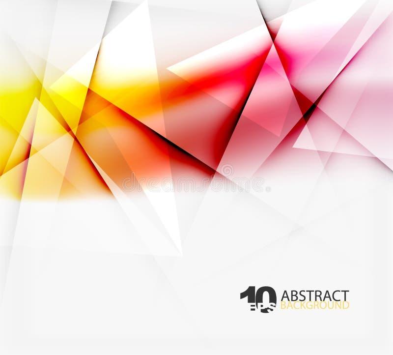 High tech eller futuristisk suddig mall för affär royaltyfri illustrationer