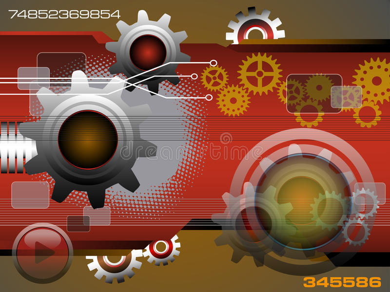 High tech gears royalty free stock photography