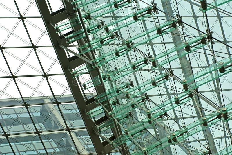 High-tech glass facade royalty free stock photography