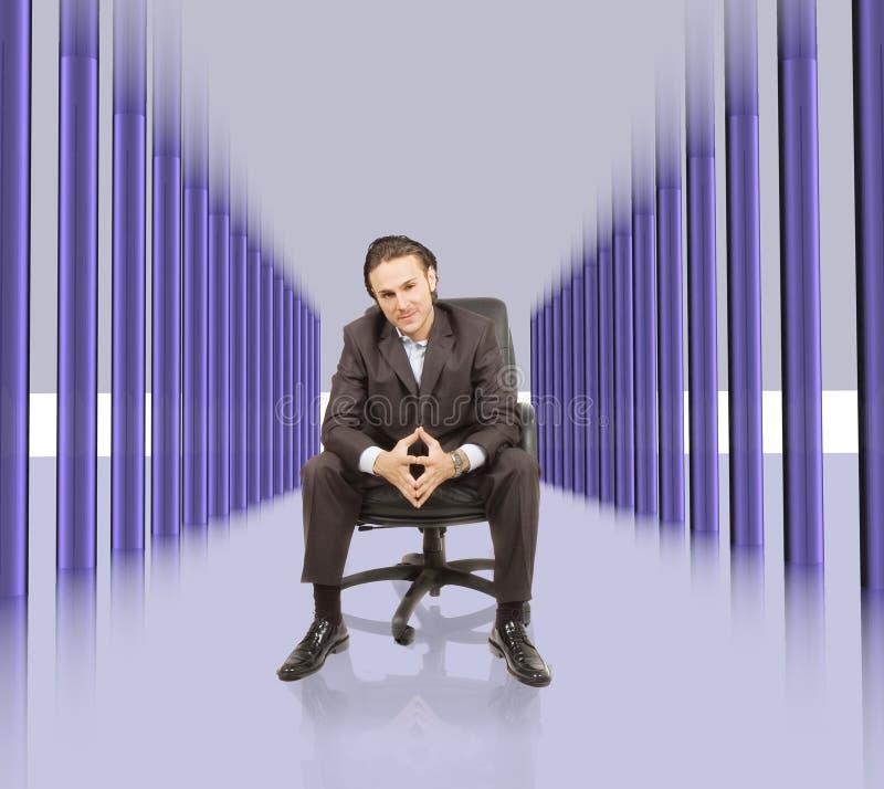 High tech hallway royalty free stock photo