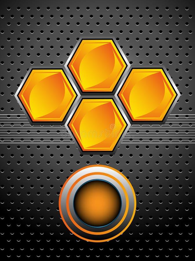 High tech honeycomb design royalty free stock photography