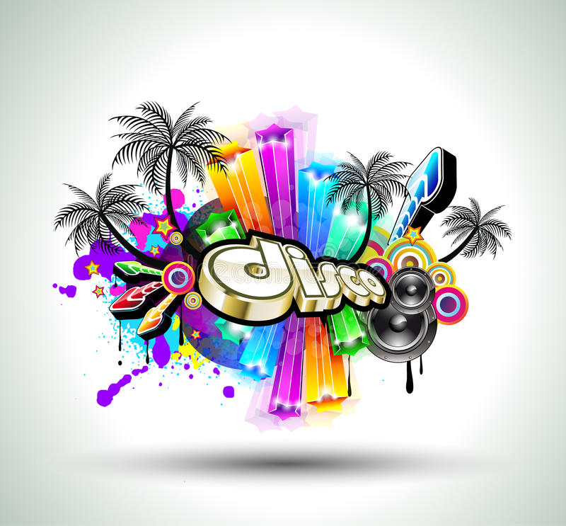 Download High Tech Music Disco Background Stock Illustration - Image: 18518269