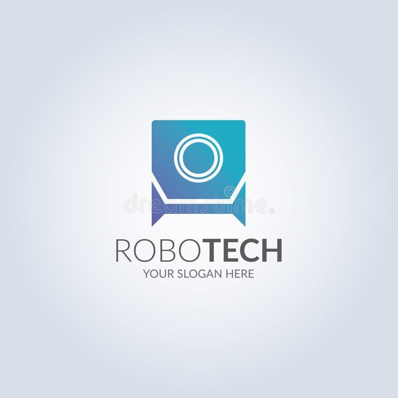 High tech robot symbol logo. Vector and illustration design vector illustration