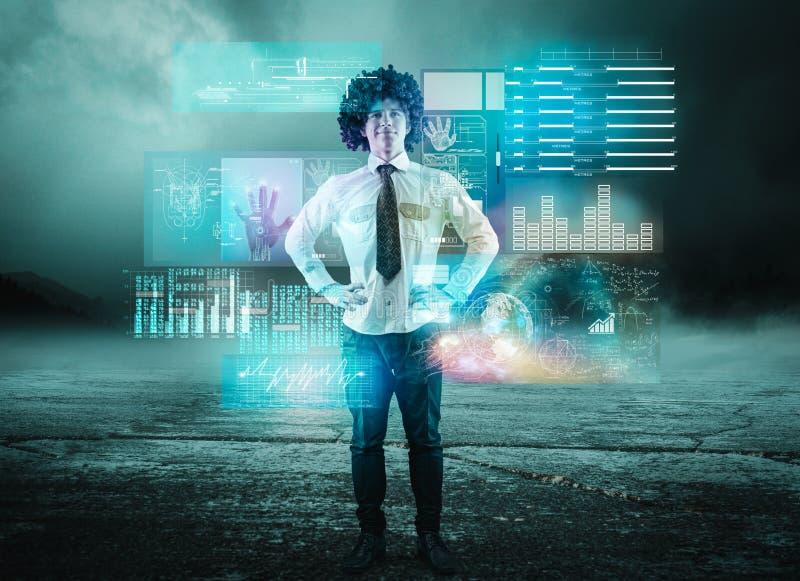 High tech screens stock photos