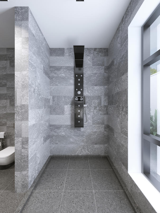 Download High Tech Shower Separate From Bathroom Stock Photo   Image:  59221332