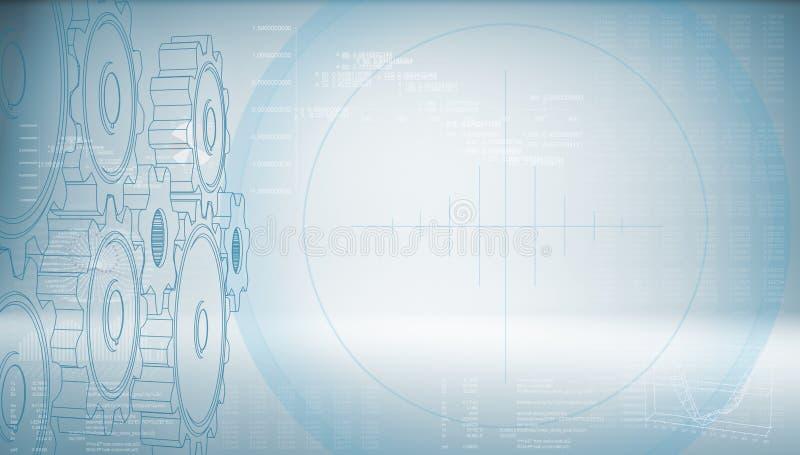 High-Techer Gang auf einem blauen Hintergrund lizenzfreie abbildung
