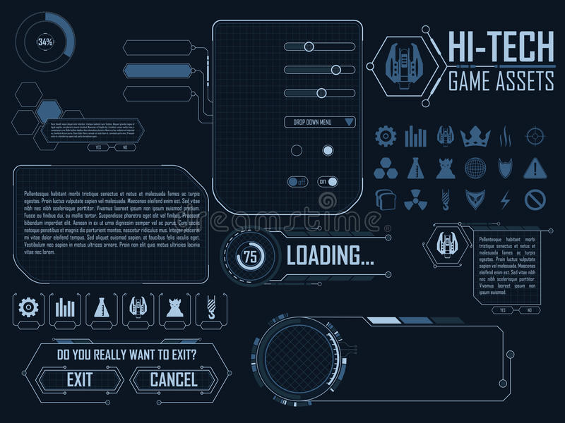 High-Teches Spielanlagegut vektor abbildung