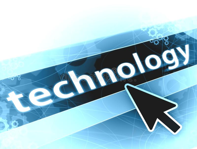 High technology background. Concept with gears arrow and lines stock illustration