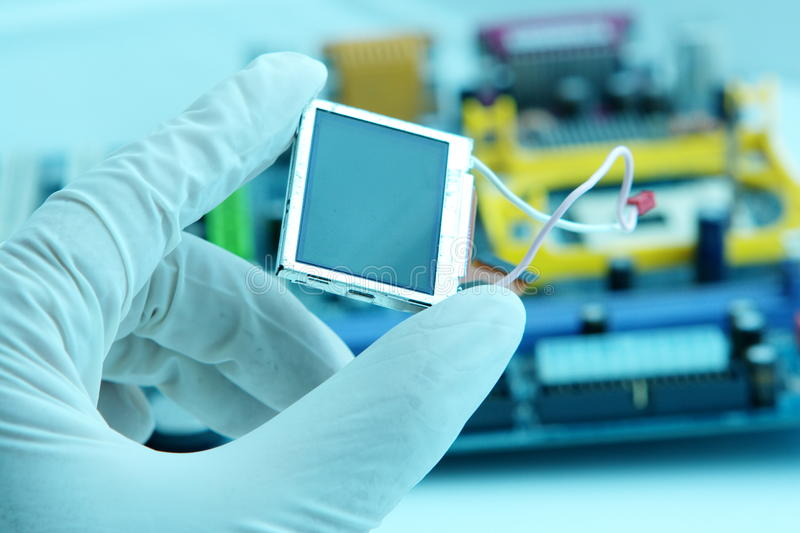 Download High technology chip stock image. Image of industry, cybernetics - 9620581