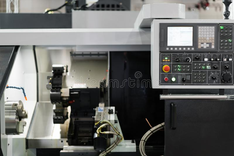 High technology Industrial Machine control by PLC programing log. Ical control for manufacturing, The PLC Computer,PLC programable logic controler royalty free stock photography