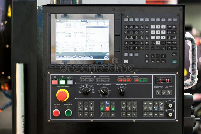 High technology Industrial Machine control by PLC programing log. Ical control for manufacturing, The PLC Computer,PLC programable logic controler stock photo