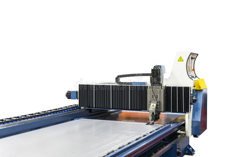 High technology modern and automatic large horizontal cnc planer machine for manufacturing process in industrial isolated on white stock images