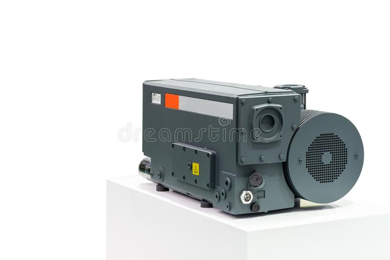 High technology & modern of new Generation high pressure rotary vane vacuum pump for packaging food chemical pharmaceutical and. Other industrial process stock image