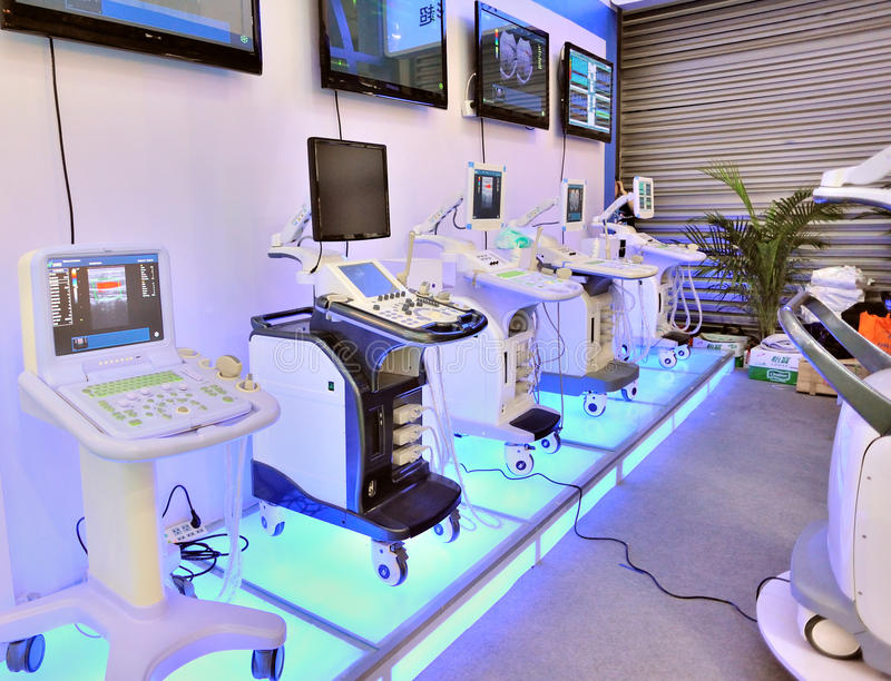 High-technology used in medical equipment. At the 67th international medical equipment fair(cmef spring 2012)/the 14th international component manufacturing& stock image