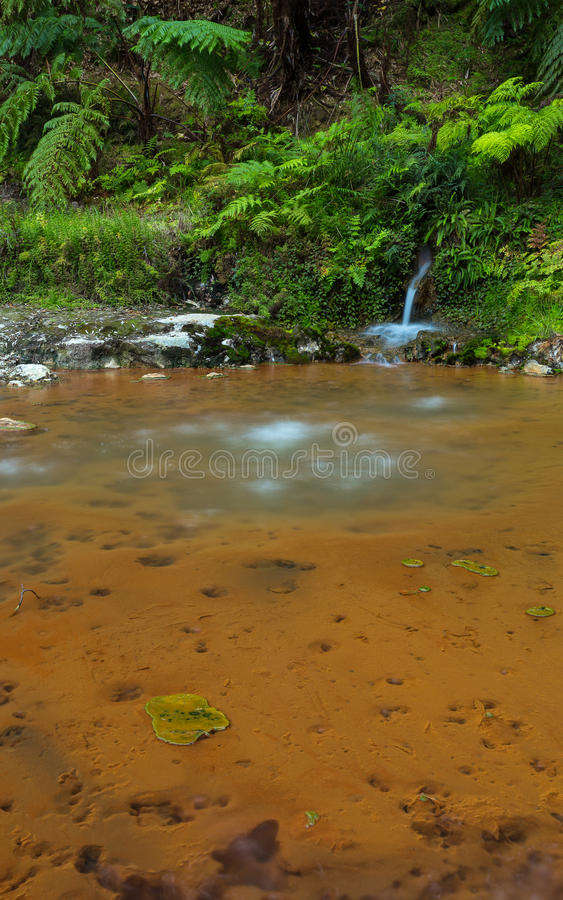 High Temperature Volcanic Waterfall stock images