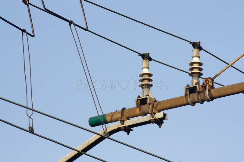 High tension line royalty free stock photography