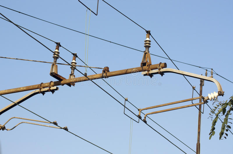 Download High tension line stock image. Image of railway, electric - 13130983