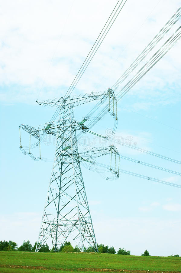 Download High-tension line stock photo. Image of generator, high - 21707910