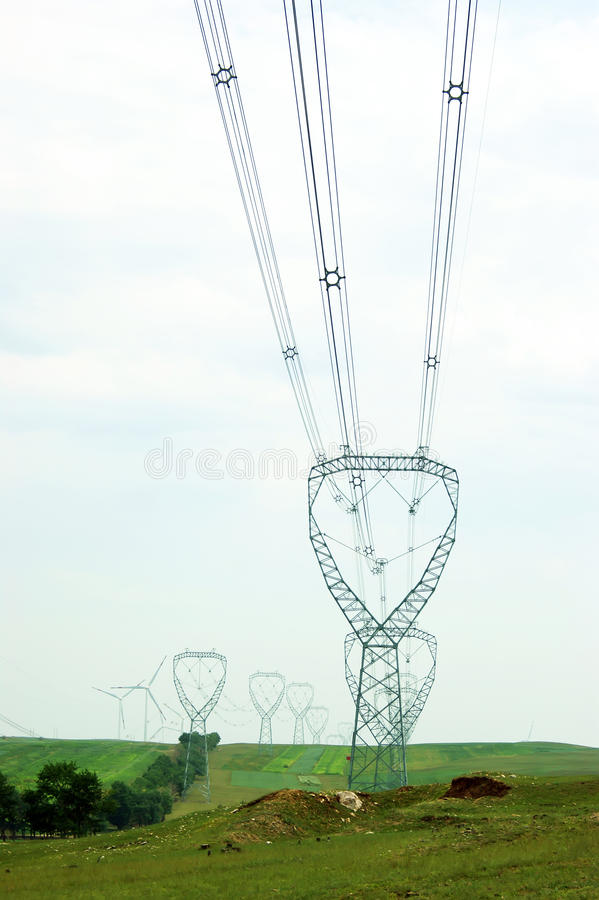 High-tension line royalty free stock photos