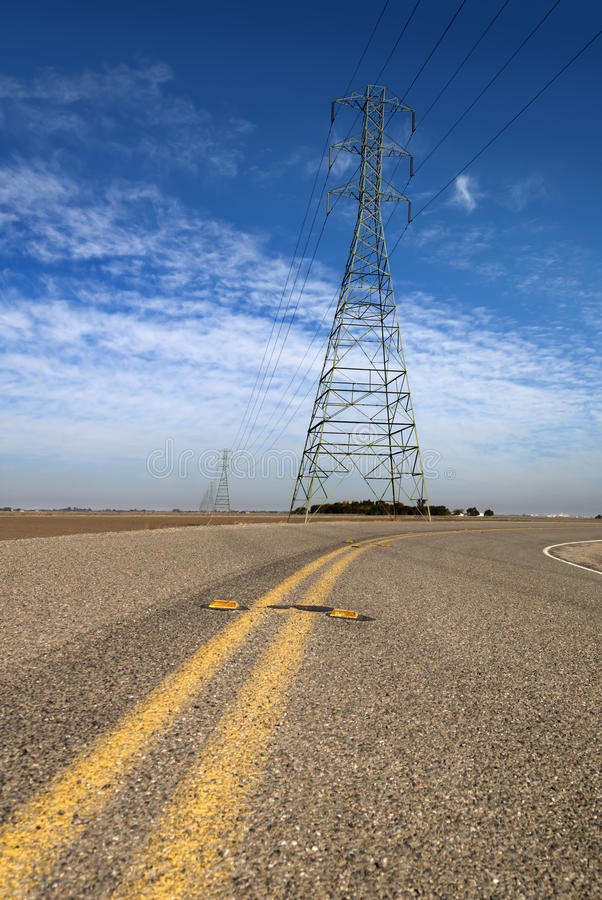 Download High Tension Lines stock photo. Image of transmission - 25233462