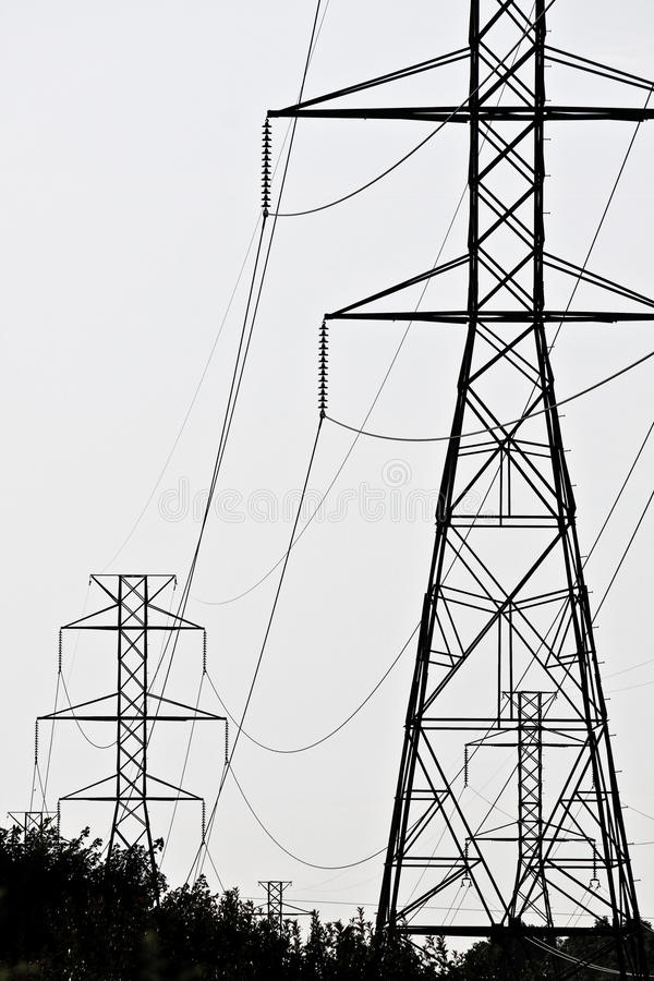 Download High Tension Lines stock photo. Image of electric, tention - 33327484