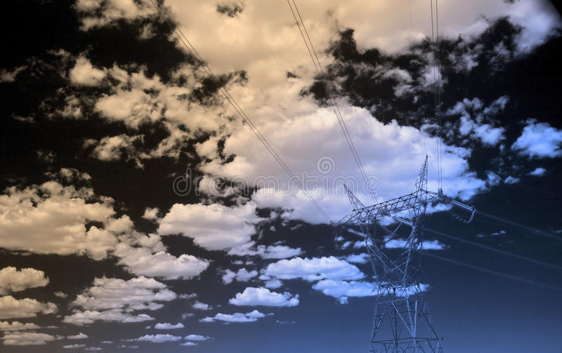 Download High Tension Power Lines stock illustration. Illustration of graphic - 23067639