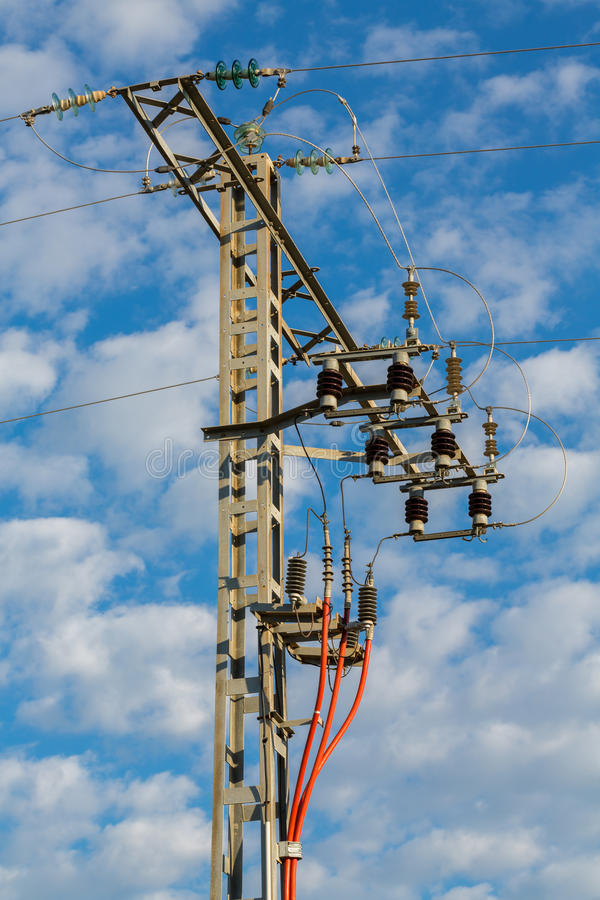 Download High tension tower stock image. Image of strength, tension - 30970021