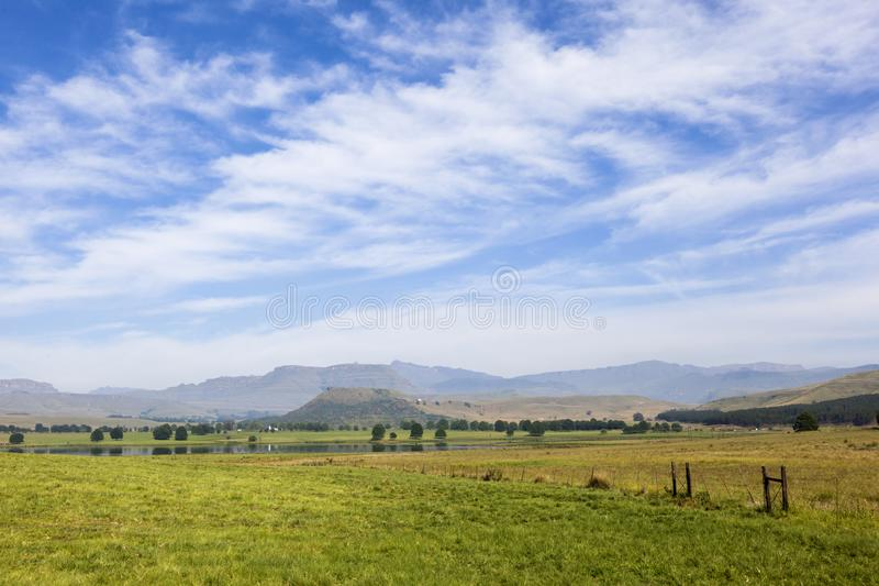High thin clouds above the mountain royalty free stock images