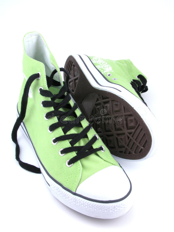 High top sneakers royalty free stock photo