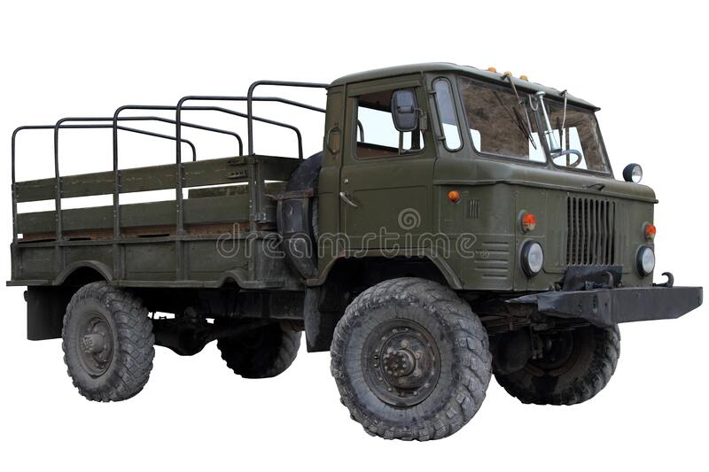 A high-traffic open-top truck stock image