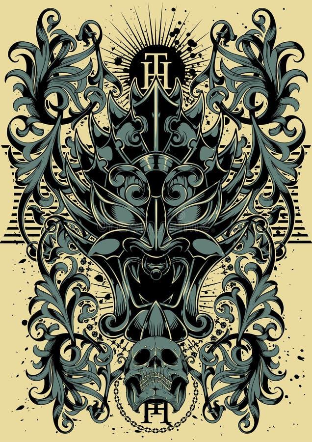 High tribute. T-shirt design illustration vector format available vector illustration