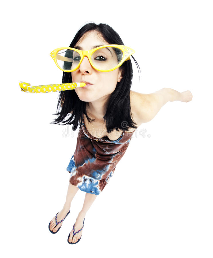 Download Party Girl stock photo. Image of happy, casual, glasses - 30008936