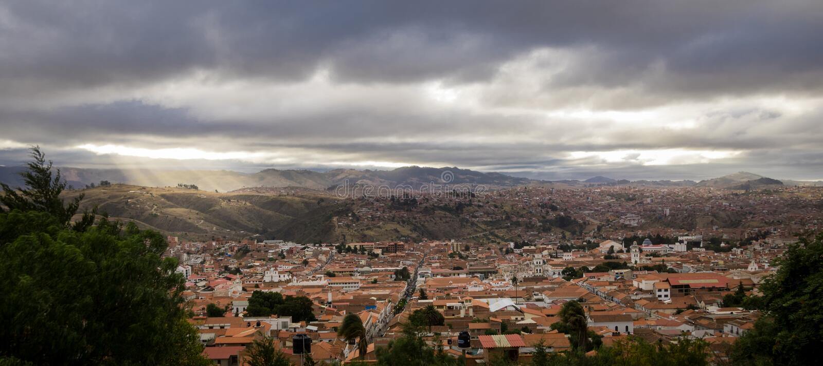 High view of city of Sucre, Bolivia. High view of city of Sucre - Bolivia royalty free stock photo