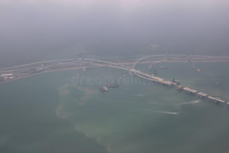 high view of the Hong Kong Boundary Crossing Facilities royalty free stock image