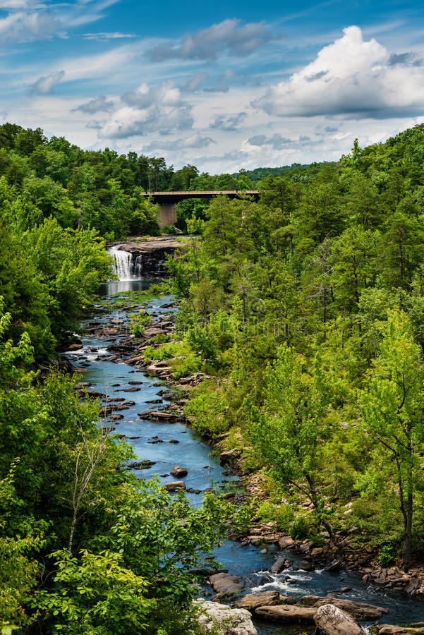 High view of Little River Canyon Federal Reserve. In northern Alabama stock images
