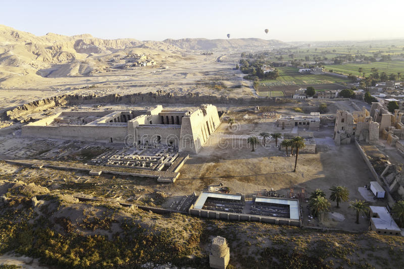 High view of the temple at valley of the kings. Luxor, egypt stock image